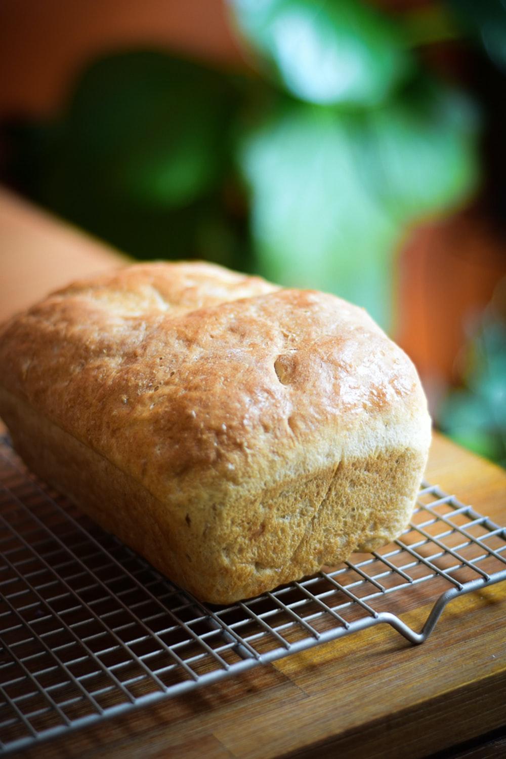 bread on black metal table