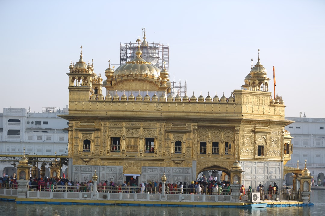 The golden temple during day