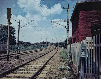 patna red and white train rail