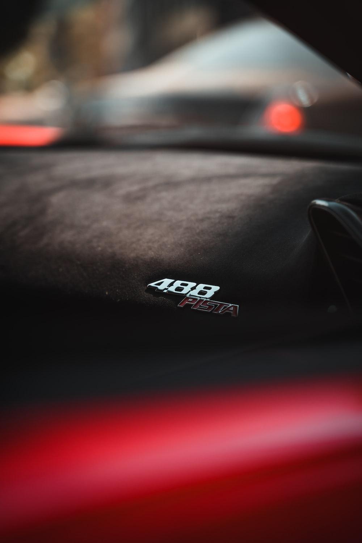 black and white car hood