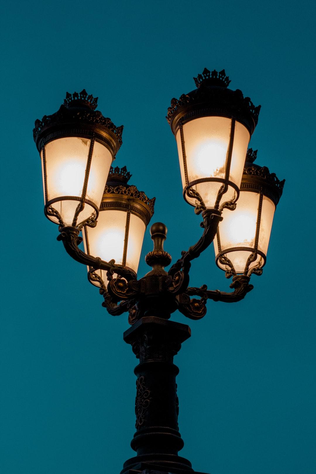 gothic street light lamp