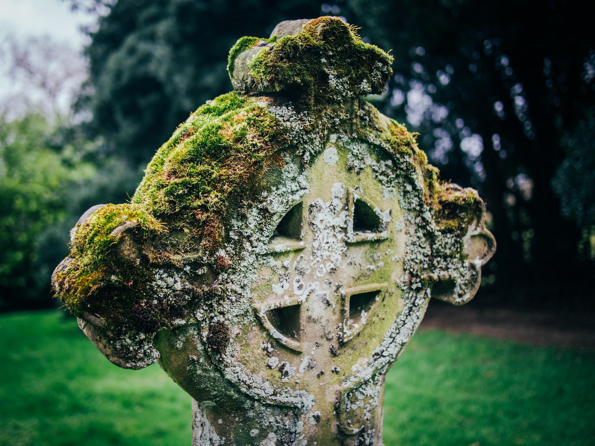 Cross in a church yard