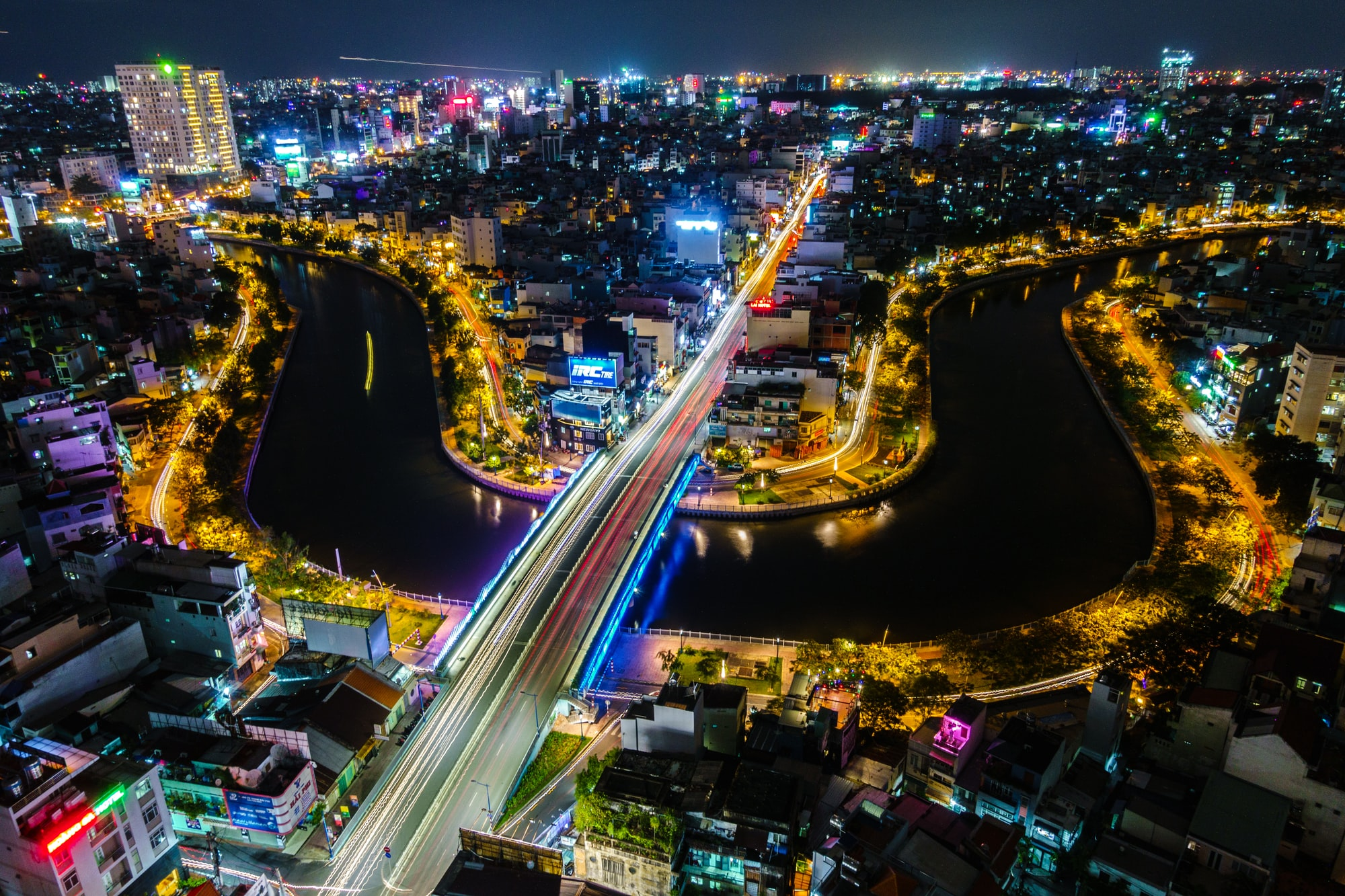 Above the fast-moving city of Saigon, Vietnam. Please consider adding credit to the link in my bio :-).