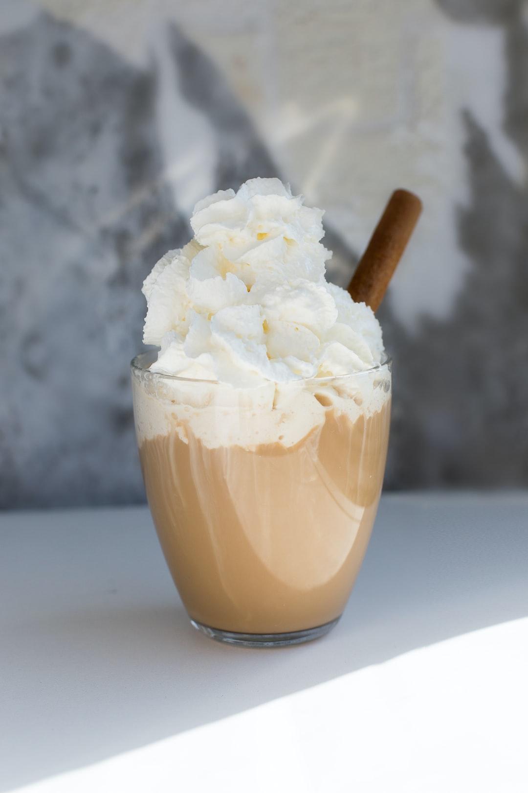 Coffee, cream, and cinnamon