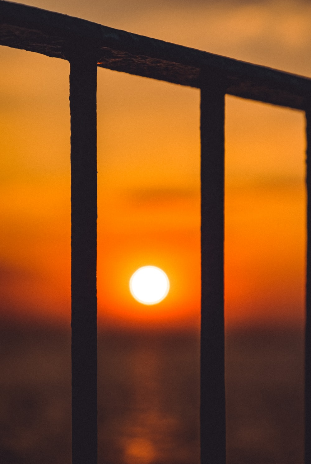 silhouette of window during sunset