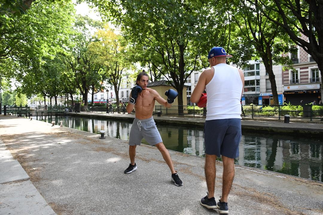 Boxing training at Parc la Villette (in Paris)