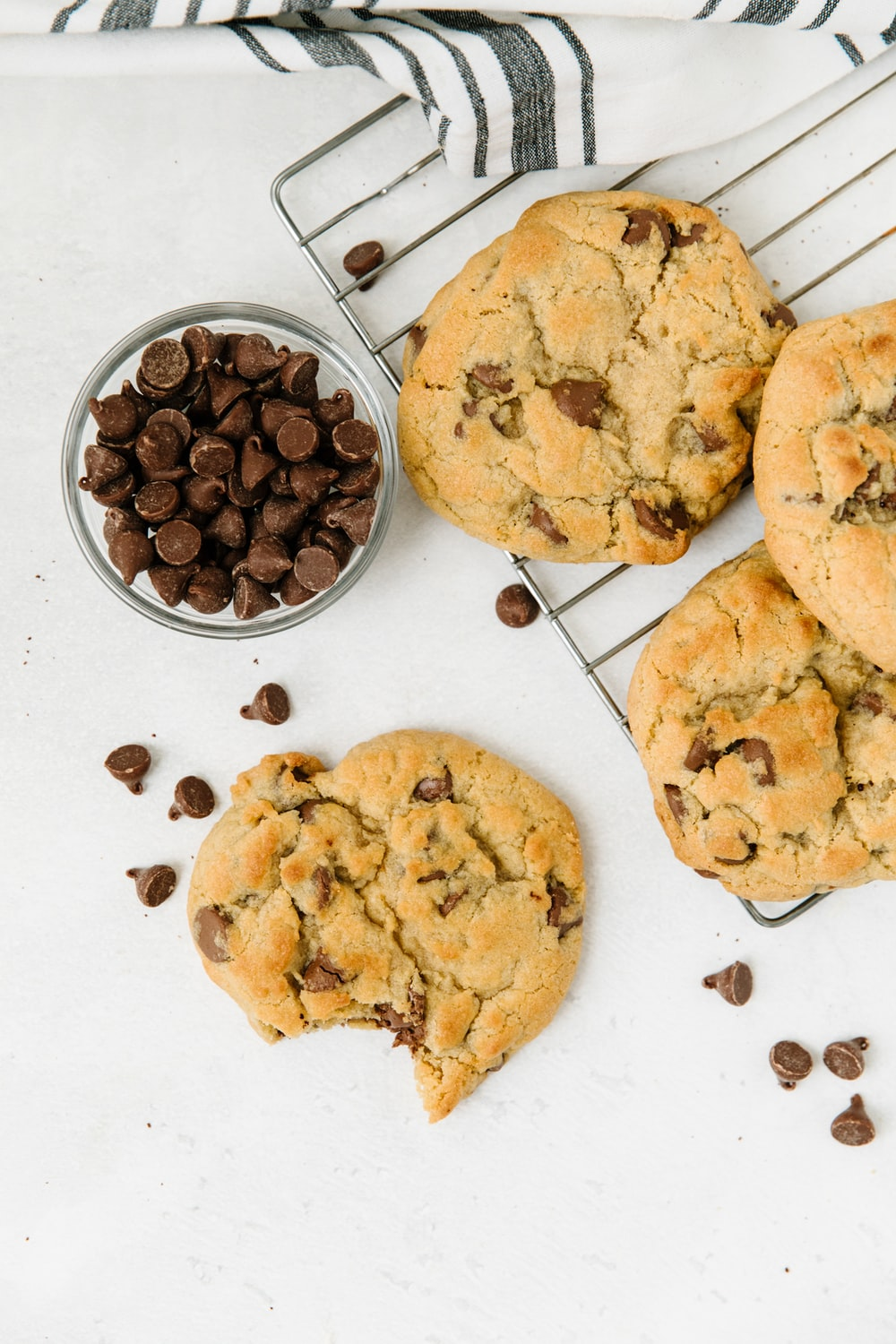 brown cookies on white ceramic plate
