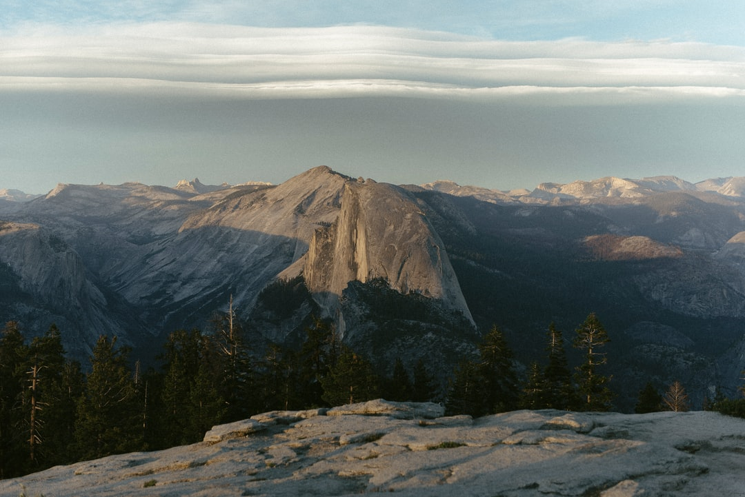 Half Dome as viewed from Sentinel Dome, Yosemite National Park, California, USA.