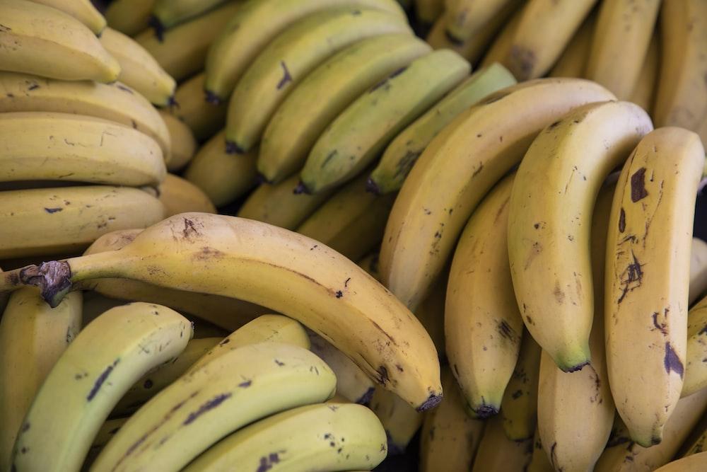 yellow and green banana fruits