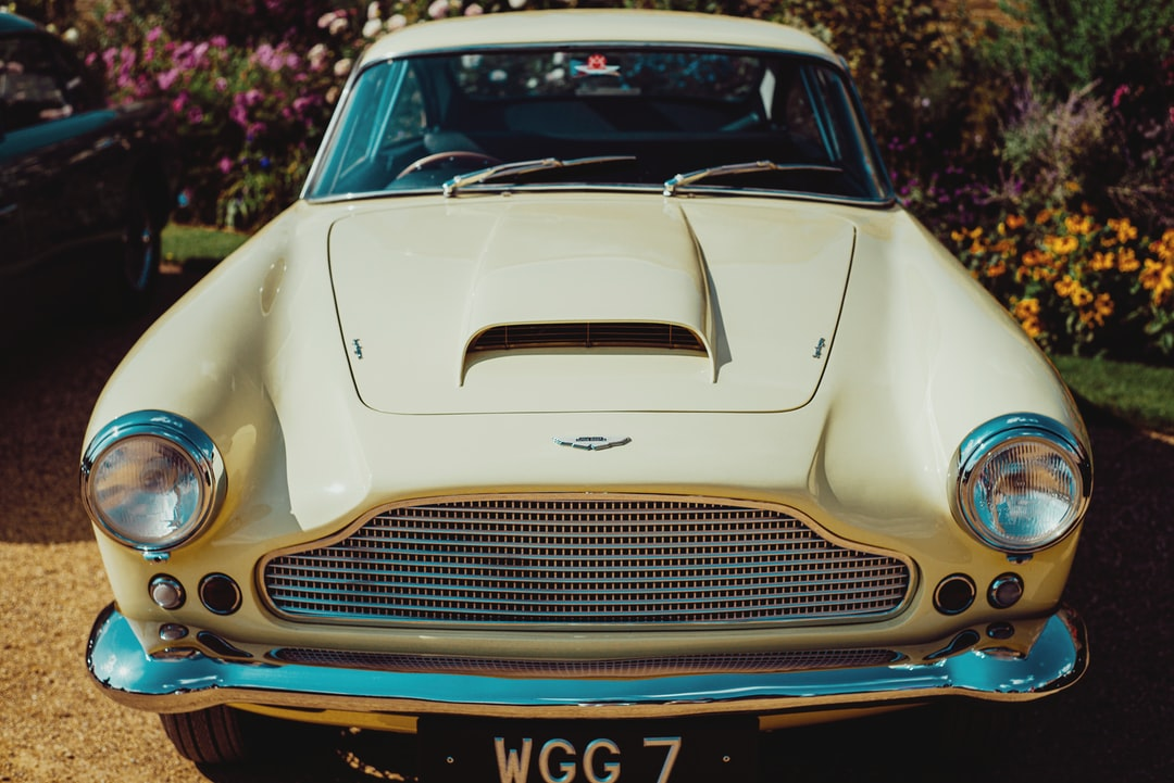 Aston Martin DB4 Superleggera in the garden at Hampton Court