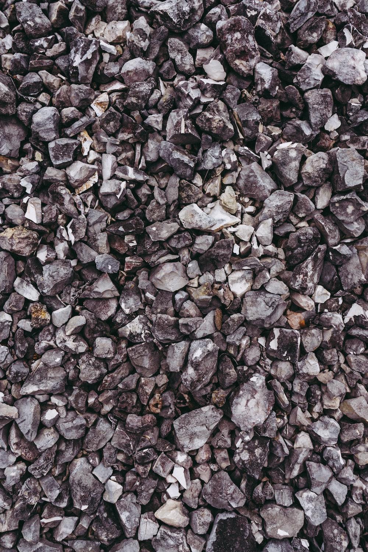 gray and black stones on ground