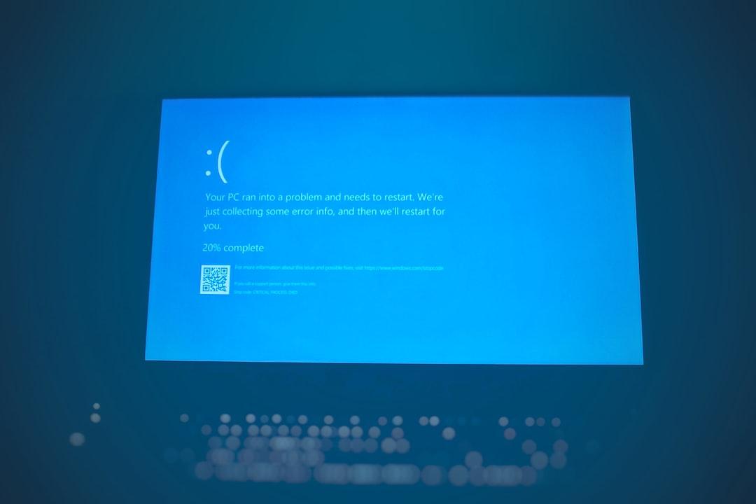 Windows Blue Screen of Death on Laptop