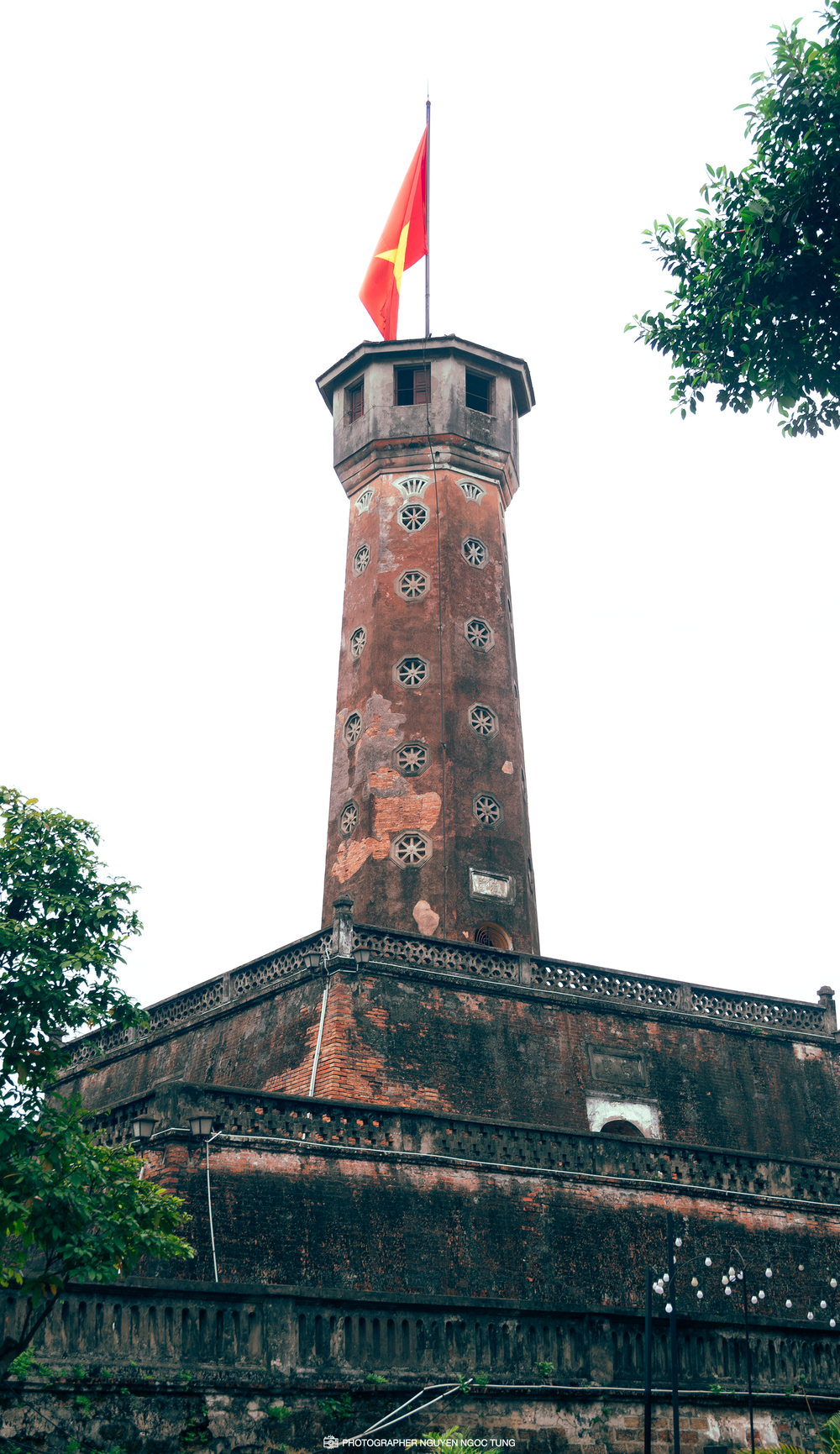 brown and red concrete tower