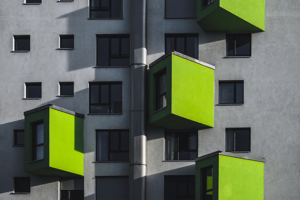 green and gray concrete building