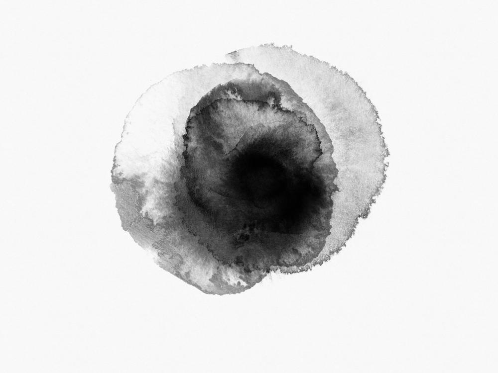 white and black round illustration