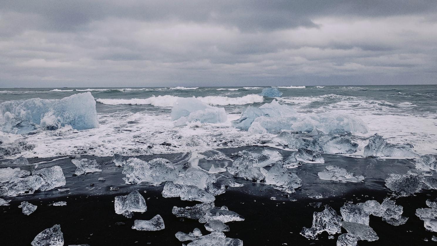 Diamond Beach sur Islandia