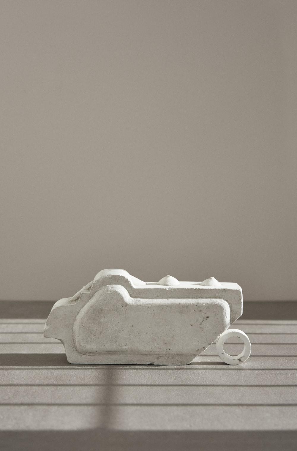 white ceramic tray on white table