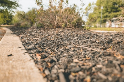 brown and black soil pathway ground zoom background