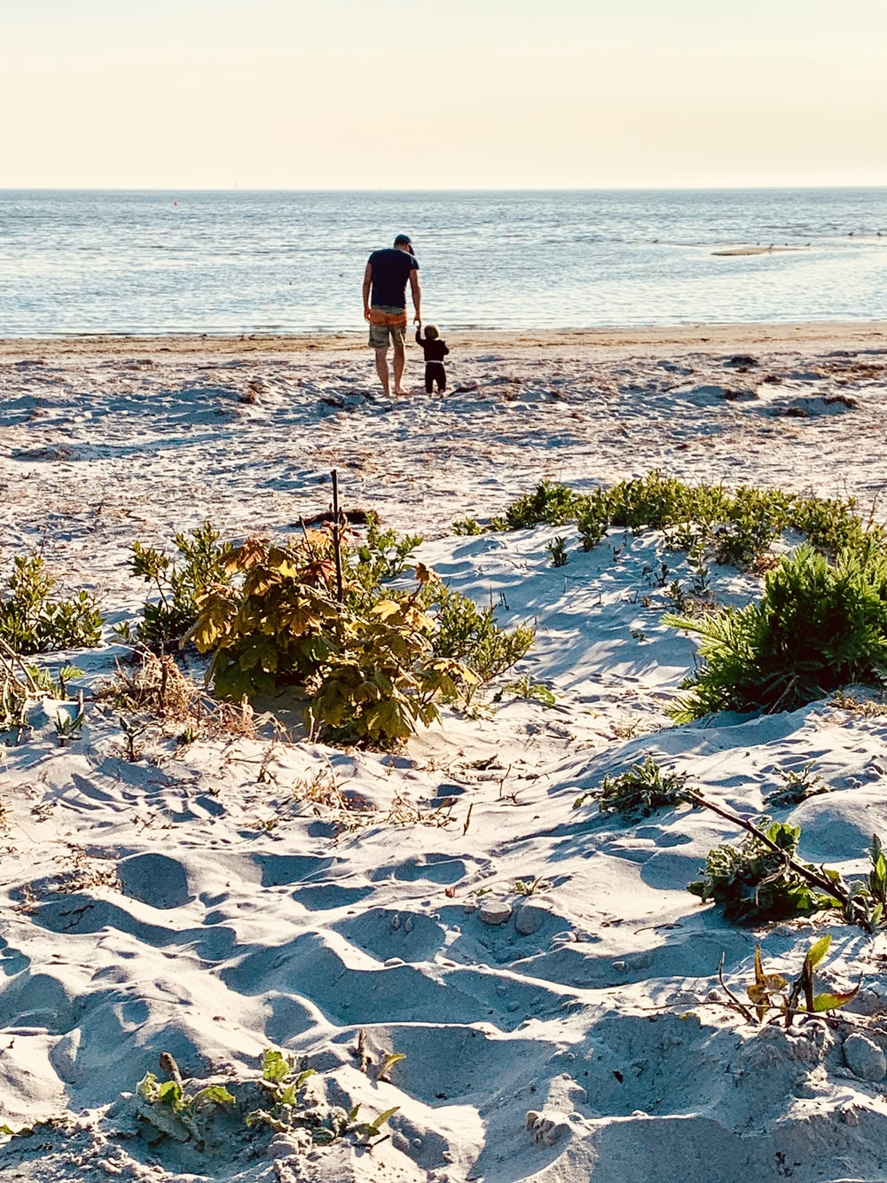 man and woman walking on beach during daytime