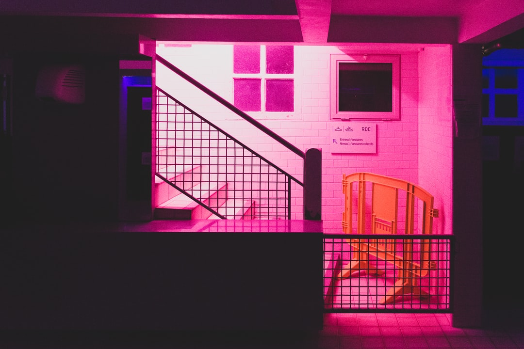 Neon swimming pool