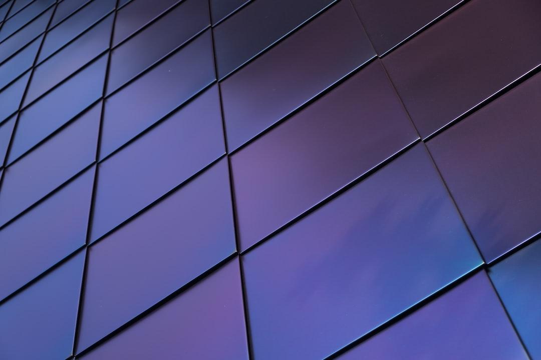 metallic shingles on building facade