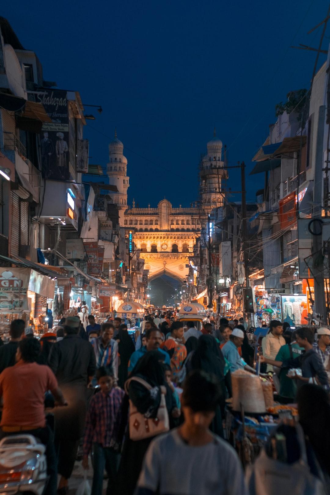 Market at Charminar, India