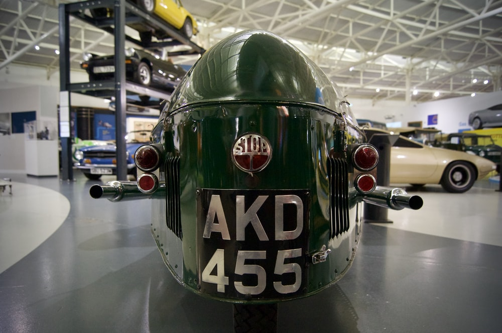 green and white m ms helmet