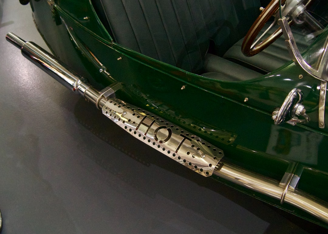 Morgan Three Wheeler at the British Motor Museum, Gaydon, England UK - with Hot Heatshield