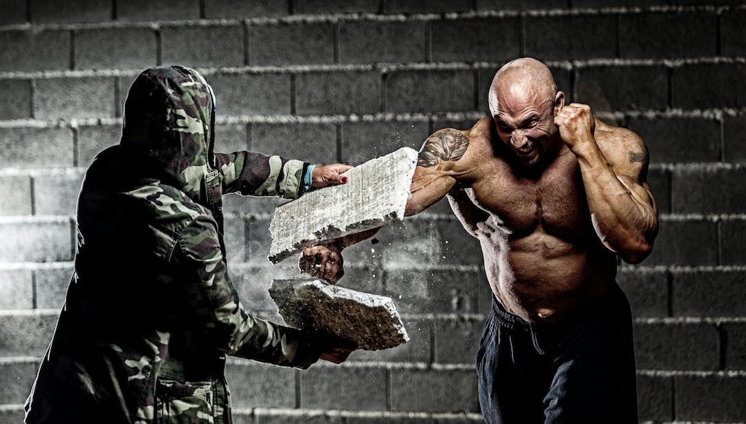 Muscular Man Punching