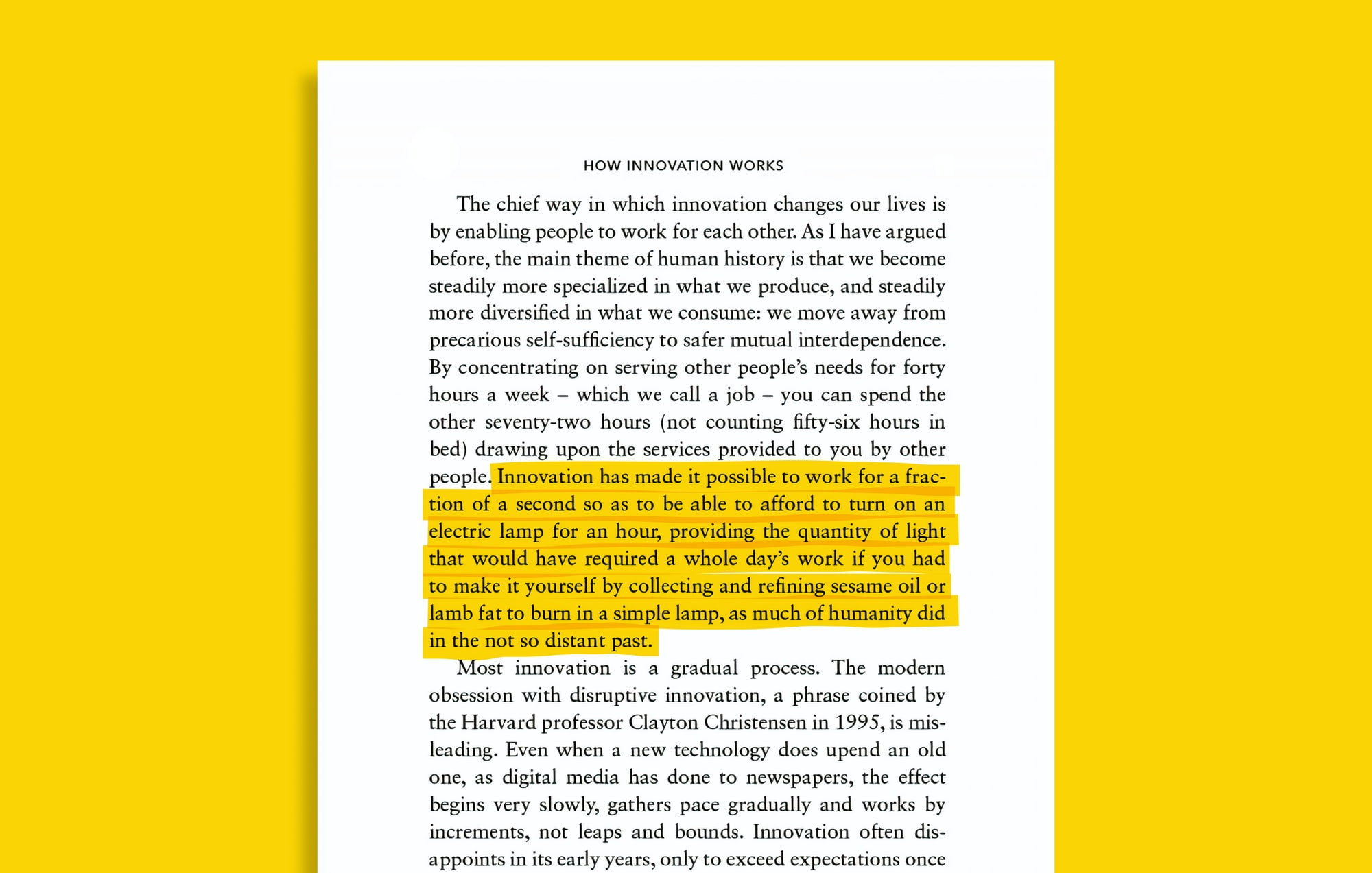Building on his national bestseller The Rational Optimist, Matt Ridley chronicles the history of innovation, and how we need to change our thinking on the subject.
