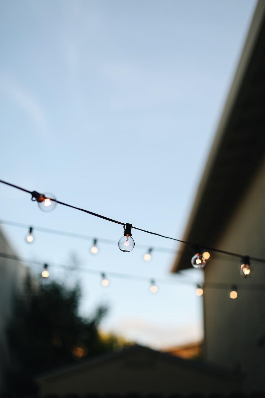 string lights in the street