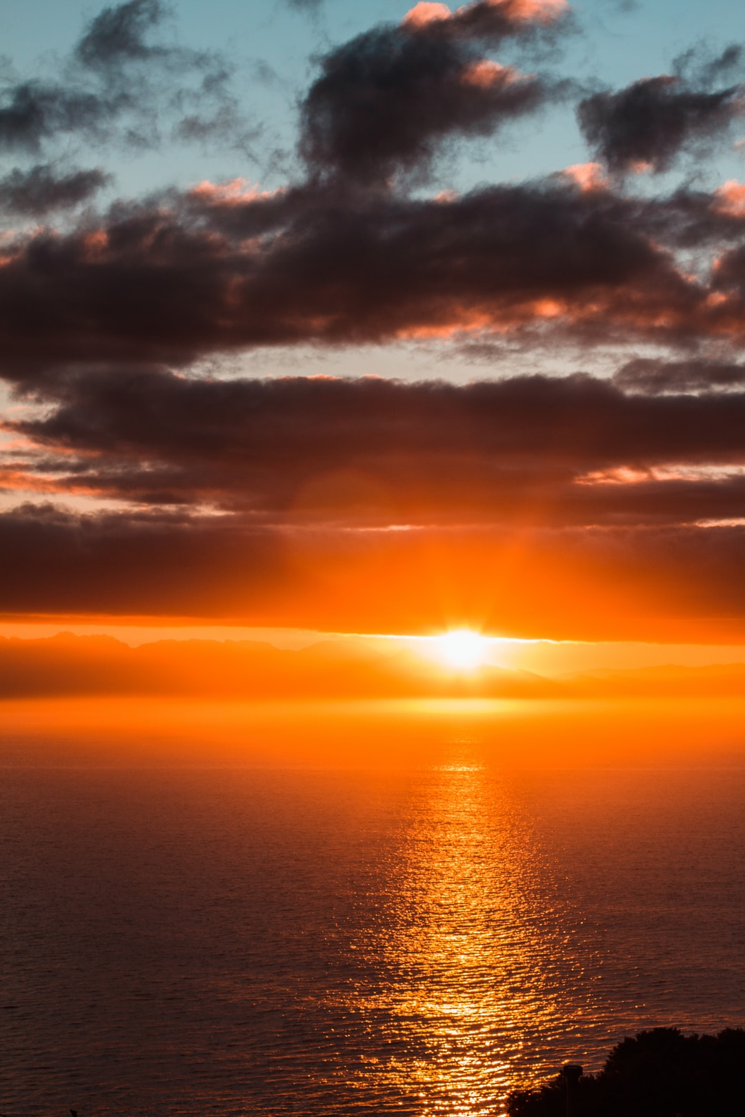 Bright Sunrise over the ocean