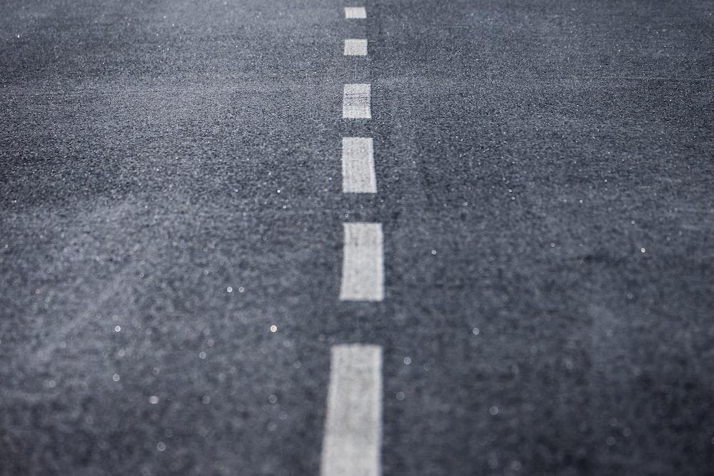 black and white pedestrian lane