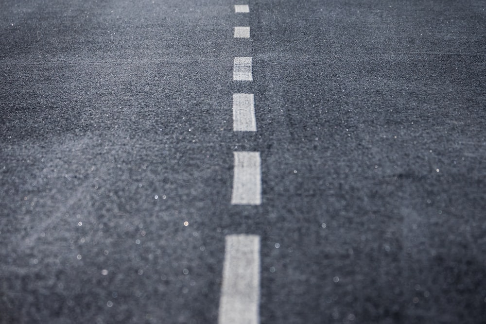black and white pedestrian lane