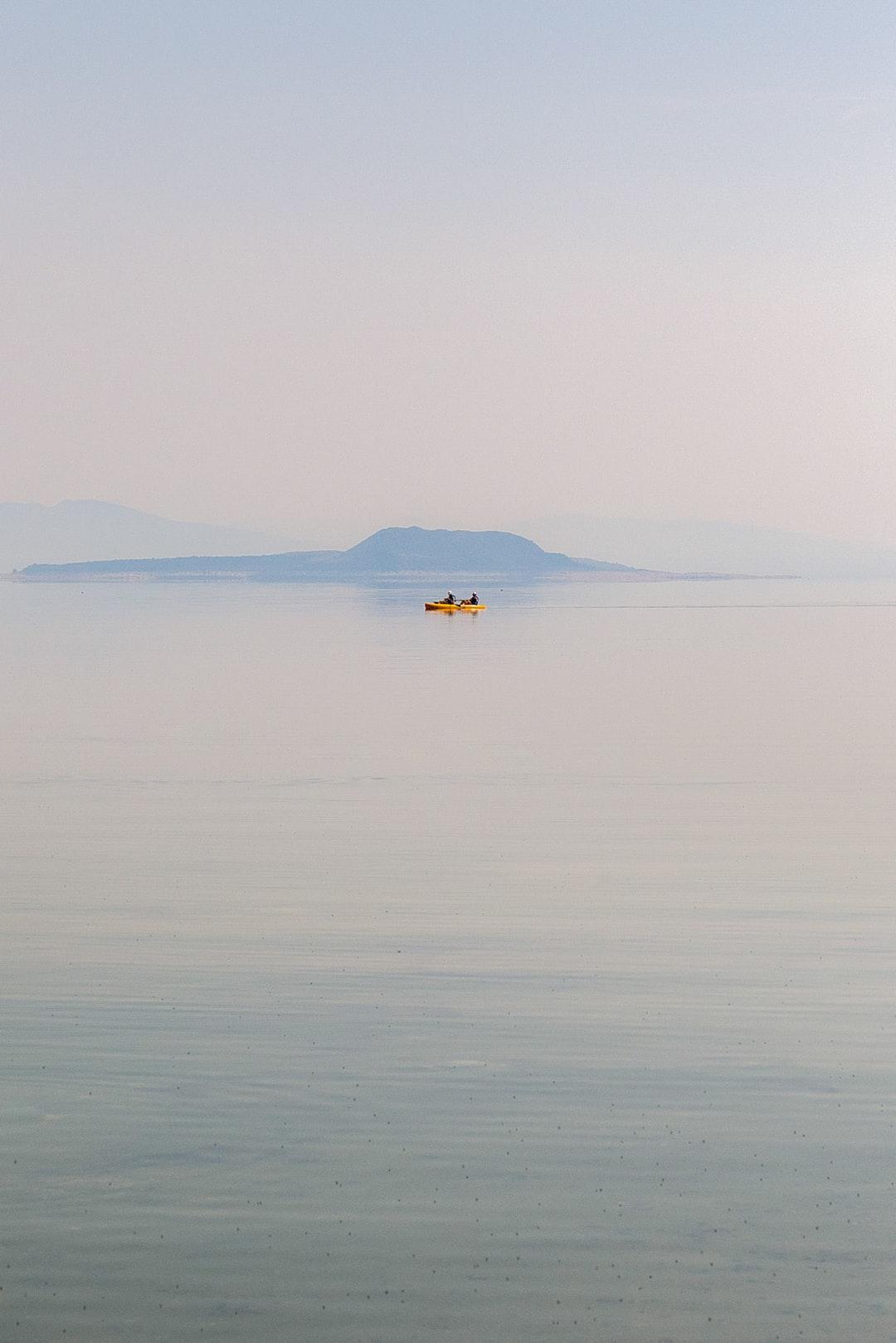 Kayakers on Mono Lake in California