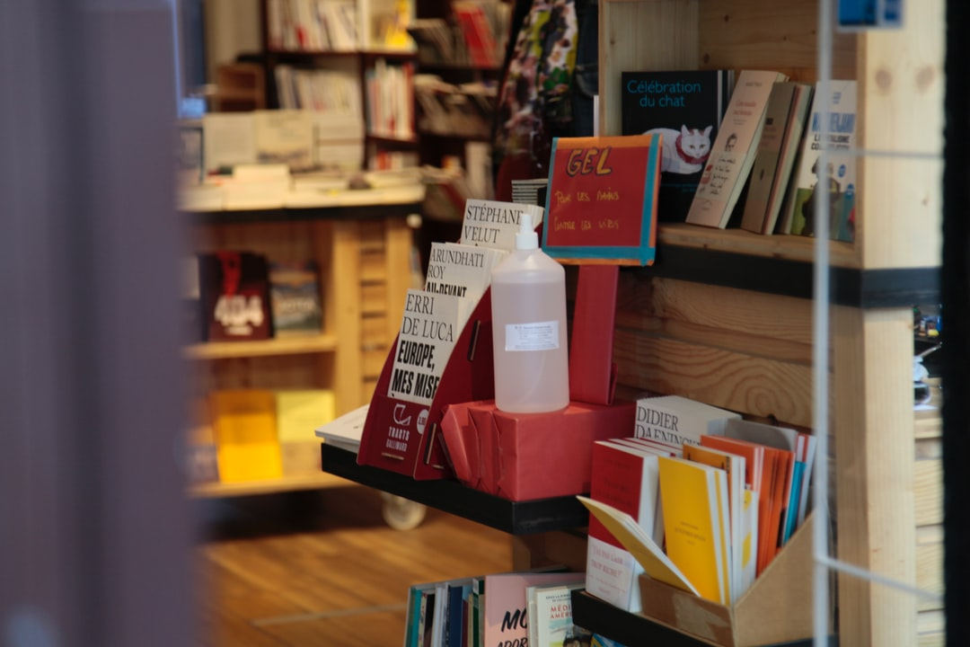 Hand sanitiser in a bookshop becoming the norm
