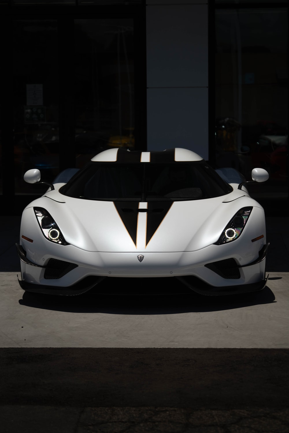 white and black lamborghini aventador