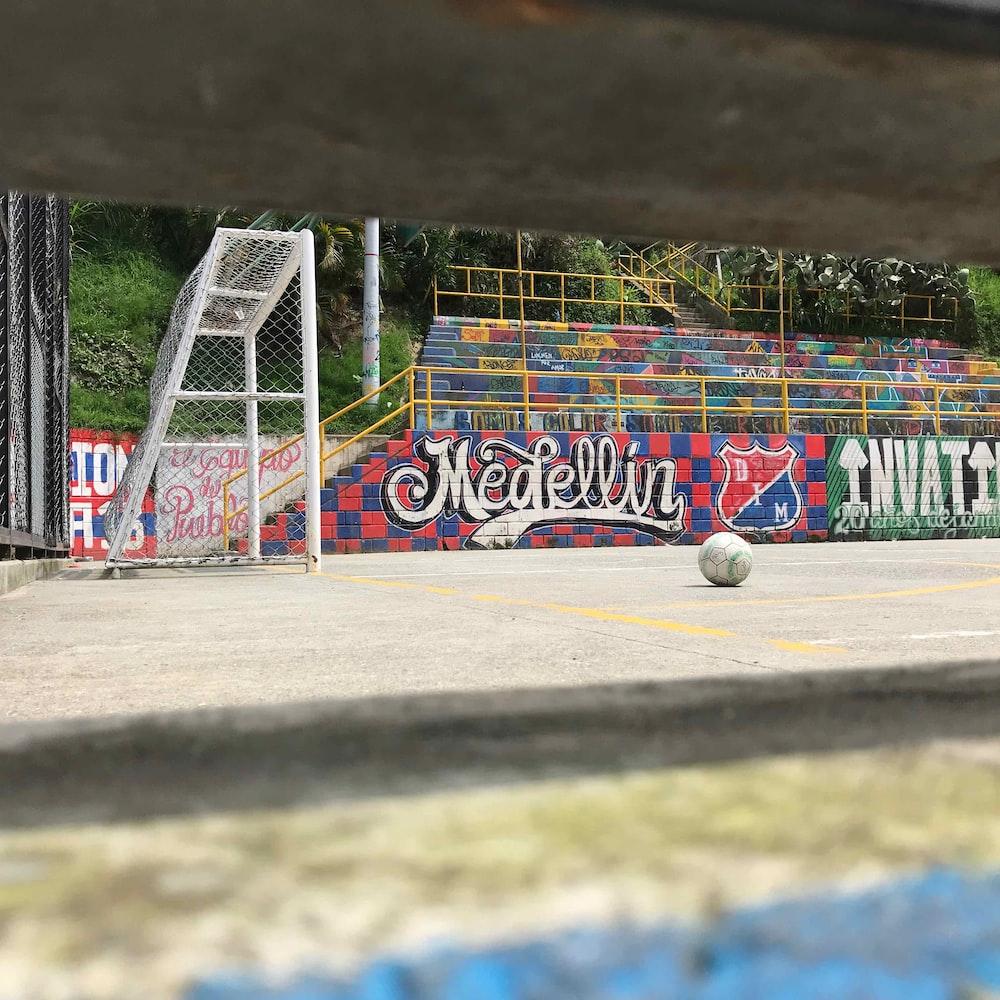 blue red and yellow graffiti art