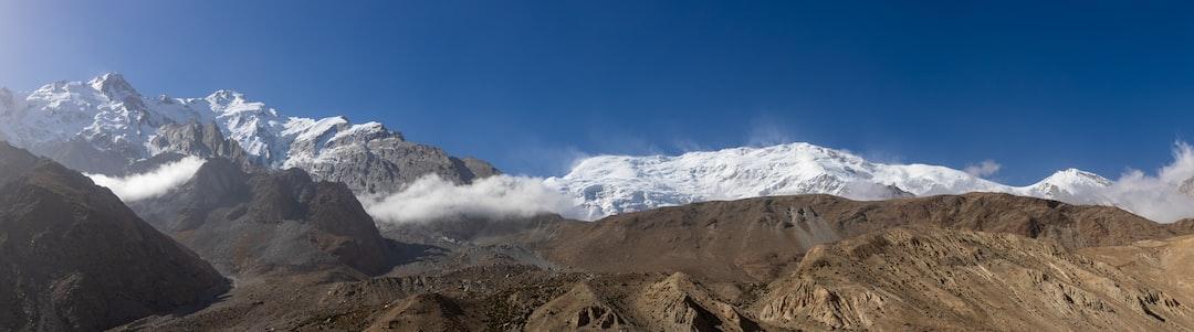 Magnificent mountain scenario near Karakoram Highway