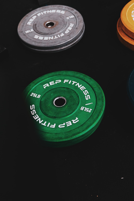 2 kg green round plastic lid