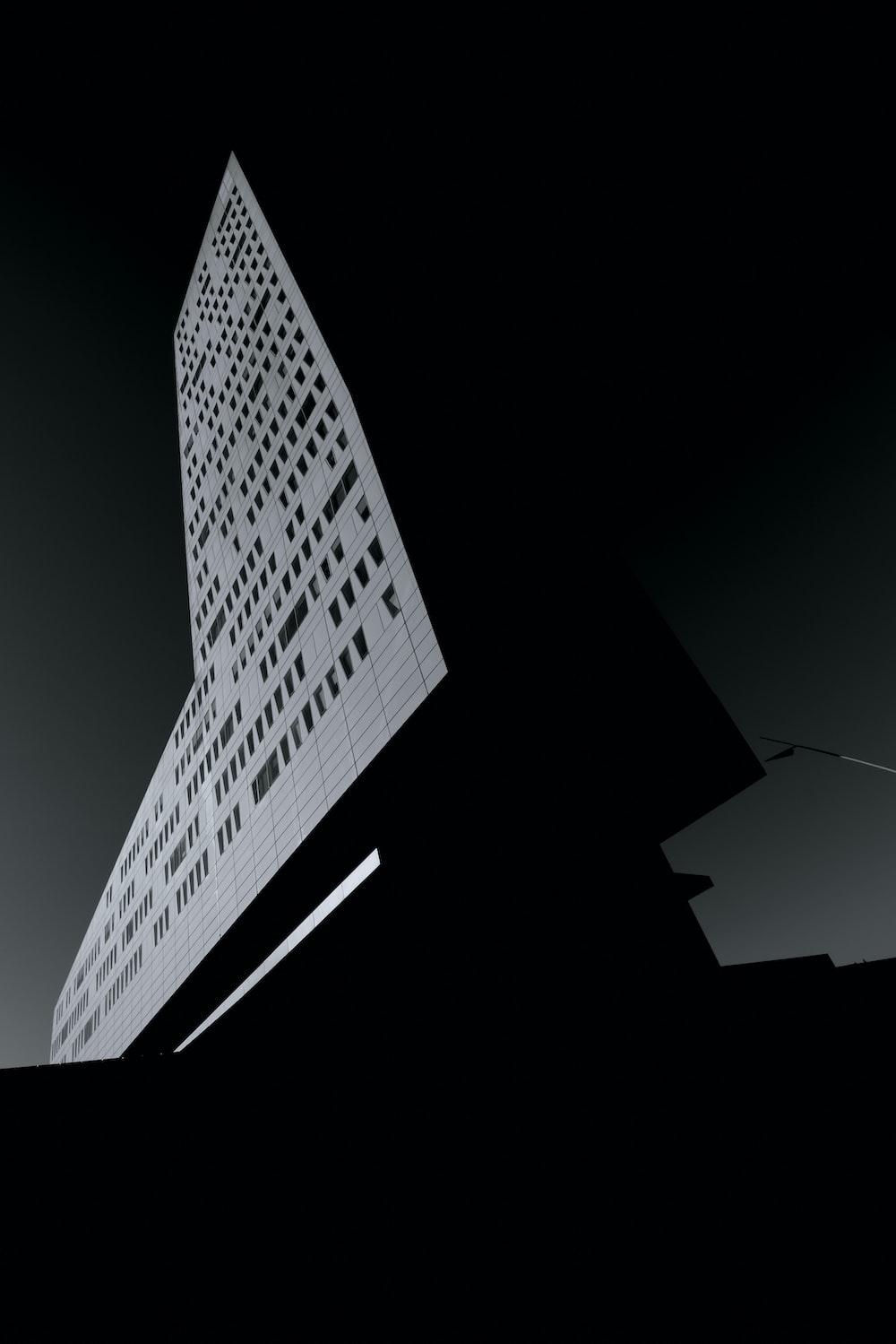 white and black building illustration
