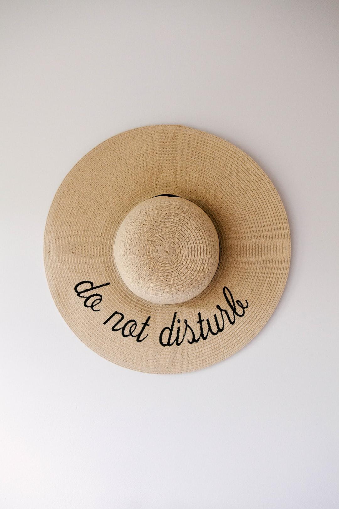 hat flat lay