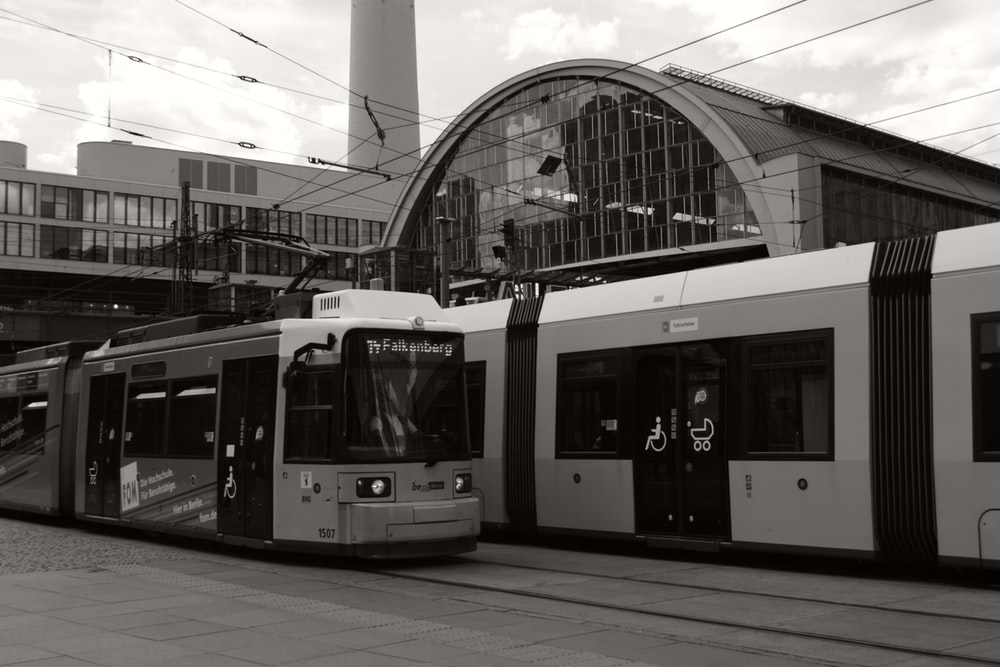 white train on train station