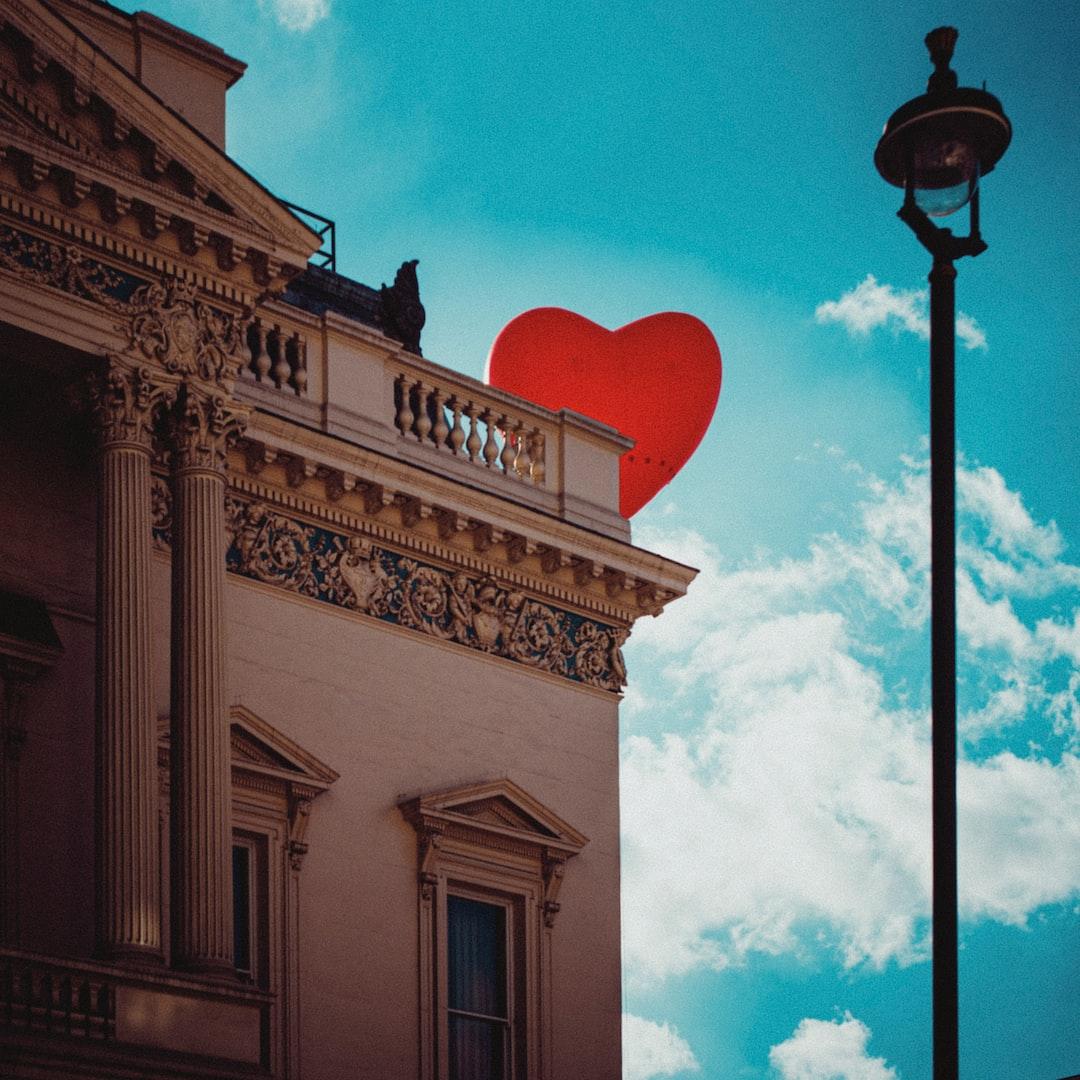 Heart balloon over London