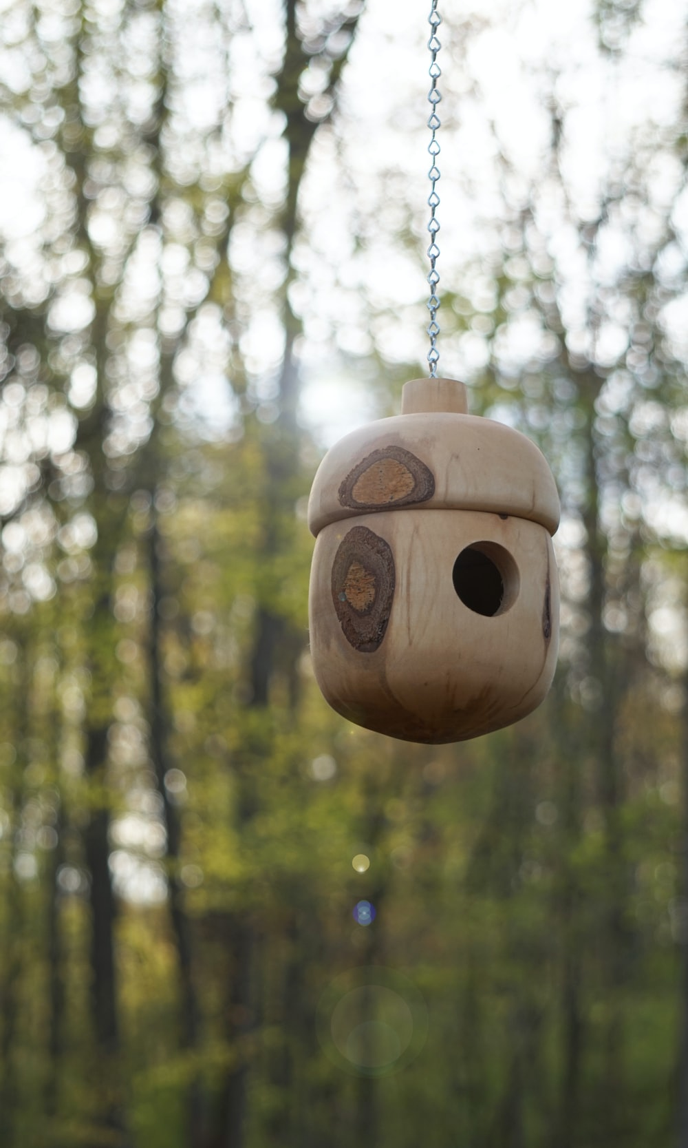 brown wooden owl hanging ornament