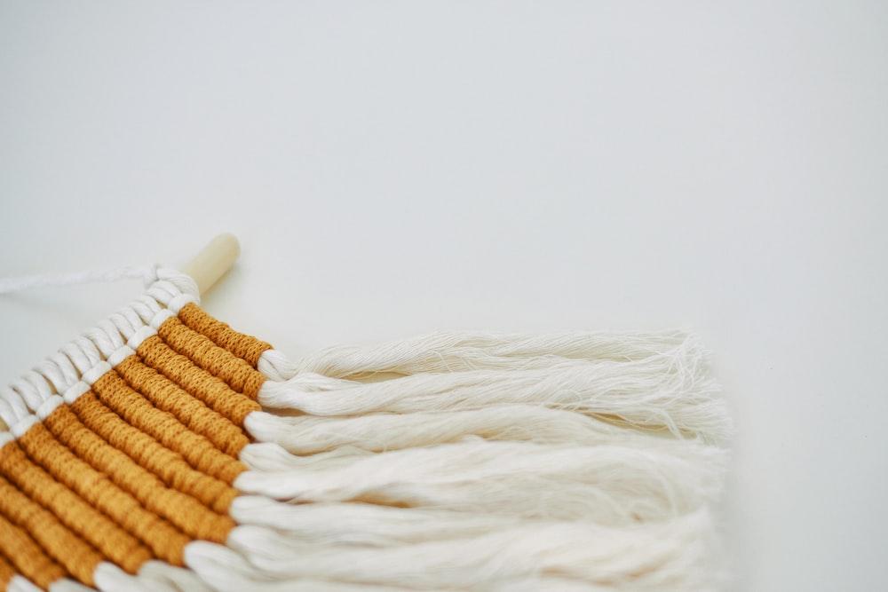 white textile on white surface