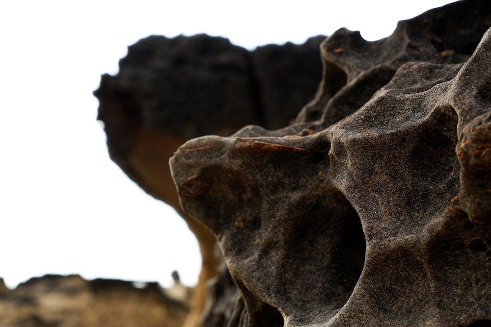 black and white stone fragment