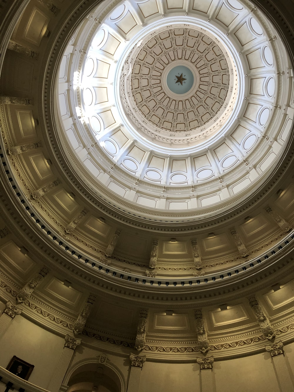 low angle photography of dome ceiling