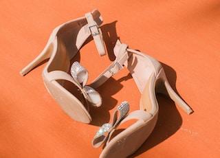 gray leather peep toe sandals
