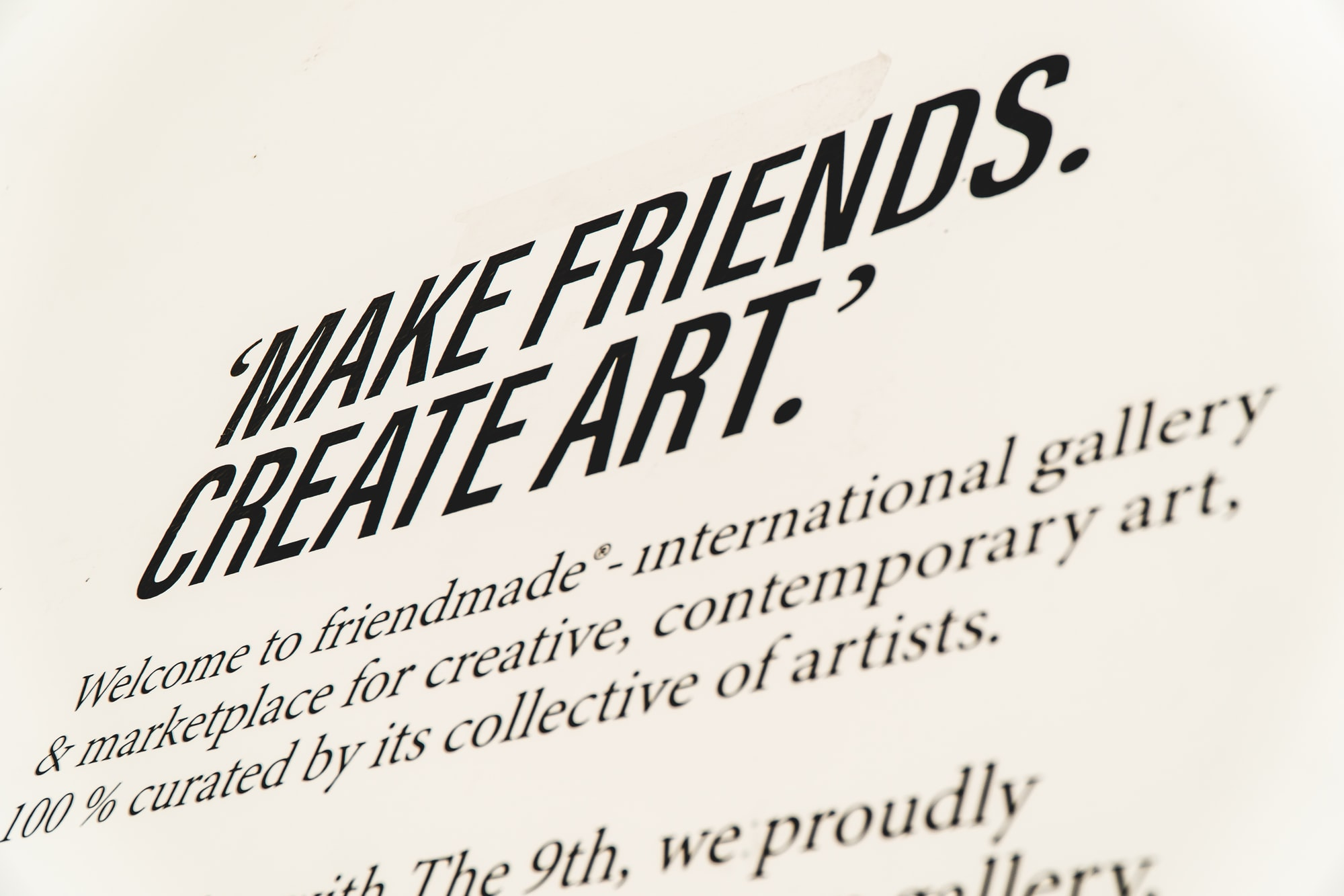 MAKE FRIENDS, CREATE ART.